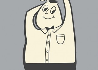 dessin homme en surpoids