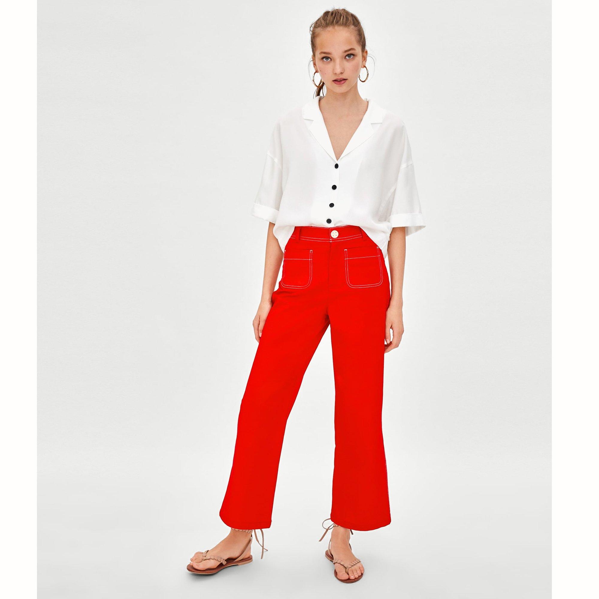 look-rentree-pantalon-talle-haute-couleur