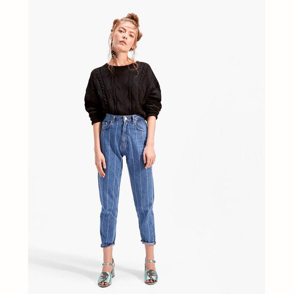 look-rentree-pantalon-talle-haute-jean